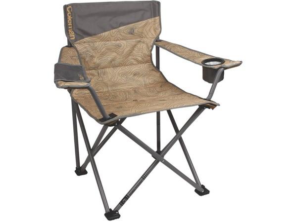 Coleman コールマン 体の大きな男性用アウトドア・チェア (トポロジー模様) 270kgまでOK! 折りたたみ椅子