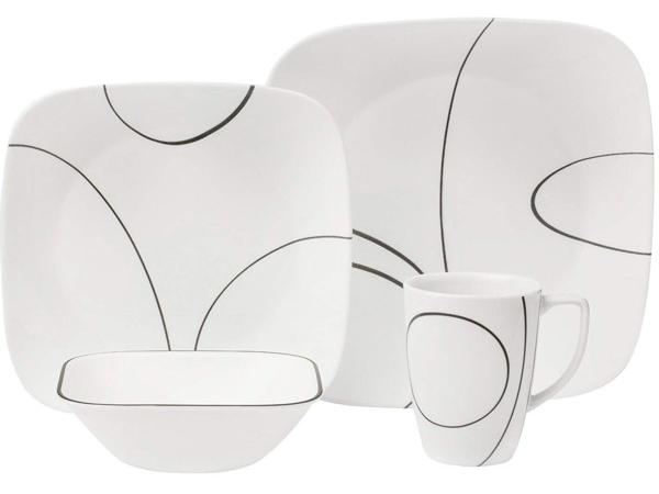 heartlandtrading corelle correr dinnerware 16 set simple lines