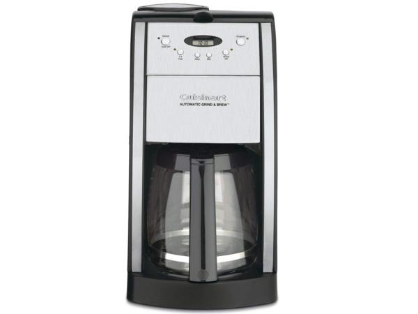 【2年保証】 Cuisinart クイジナート 12カップ・コーヒーメーカー (黒/艶消しメタル) DGB-550BK コーヒーミル機能付き
