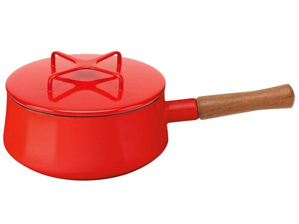 Dansk ダンスク コベンスタイル ホーロー18cm片手鍋 ソースパン (レッド) 2QT