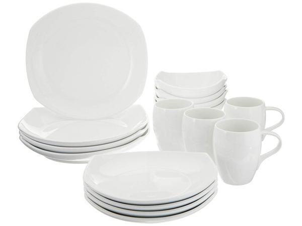 Dansk ダンスク Classic Fjord ディナーウェアー食器16点セット (ホワイト)  4人用