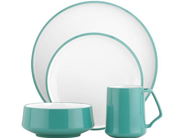 Dansk ダンスク コベンスタイル ディナーウェアー食器4点セット (ティールグリーン)
