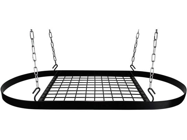 Kinetic オーバル・ポットラック (ブラック) お鍋やフライパンを吊るせるハンギング・ラック