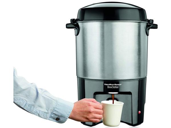【2年保証】 Hamilton Beach ハミルトン・ビーチ ワンハンド式40カップ・コーヒーメーカー (シルバー) 40540