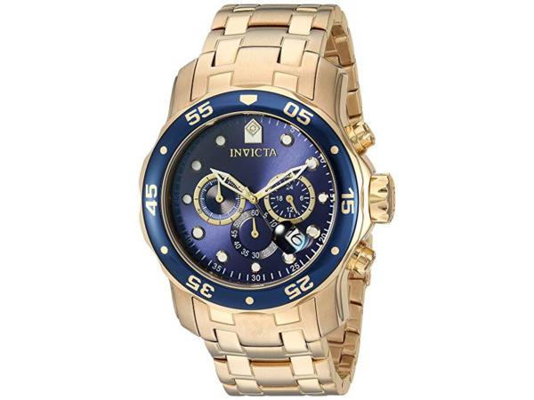 Invicta インビクタ Pro Diver 0073 男性用48mm腕時計・クロノグラフ プロダイバー・シリーズ
