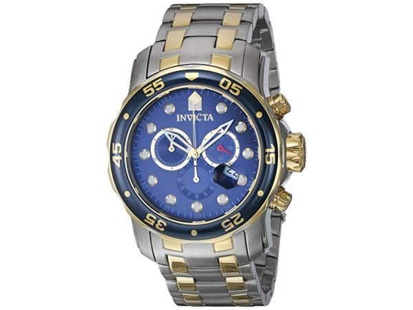 Invicta インビクタ Pro Diver 0077 男性用48mm腕時計・クロノグラフ プロダイバー・シリーズ