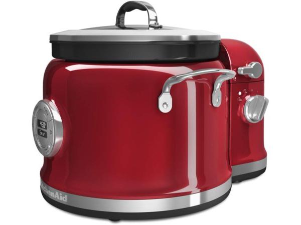 【2年保証】 KitchenAid  キッチンエイド マルチクッカー&スティアータワー・セット (赤) 多機能スロークッカーとかき混ぜ機の2点セット
