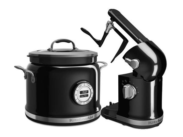 【2年保証】 KitchenAid キッチンエイド マルチクッカー&スティアータワー・セット (黒) 多機能スロークッカーとかき混ぜ機の2点セット