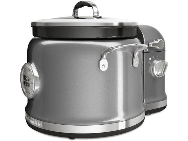 【2年保証】 KitchenAid キッチンエイド マルチクッカー&スティアータワー・セット (シルバー) 多機能スロークッカーとかき混ぜ機の2点セット
