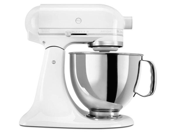 【2-5年保証・日本語訳・変換プラグ付】 KitchenAid キッチンエイド 5QTスタンドミキサー (ホワイト・オン・ホワイト) 【アルチザンシリーズ】 おすすめです♪