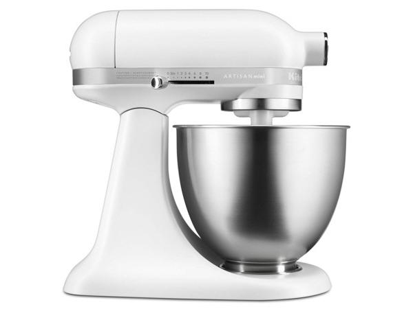 【2-5年保証・日本語訳・変換プラグ付】 KitchenAid キッチンエイド・ミニ 3.5QTスタンドミキサー (白) 25%軽量・20%小型化【アルチザンMiniシリーズ】 おすすめです♪