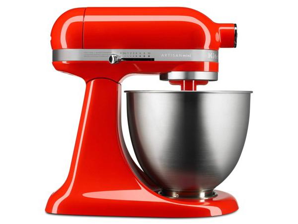 【2-5年保証・日本語訳・変換プラグ付】 KitchenAid キッチンエイド・ミニ 3.5QTスタンドミキサー (ホットソース) 25%軽量・20%小型化【アルチザンMiniシリーズ】 おすすめです♪