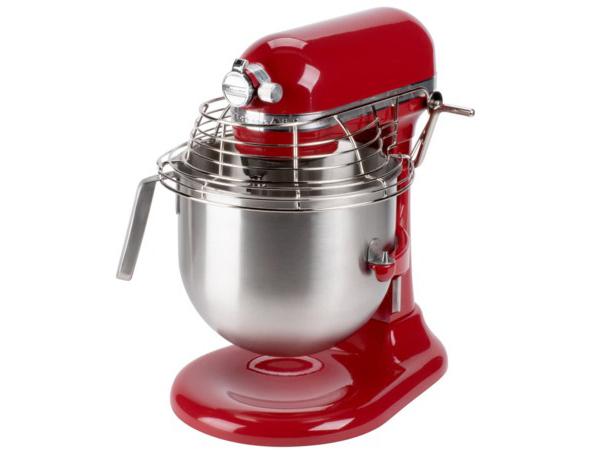 【2-5年保証・日本語訳・変換プラグ付】 KitchenAid キッチンエイド ボウルガード付き8QTスタンドミキサー (赤) NSF認定コマーシャル・シリーズ おすすめです♪