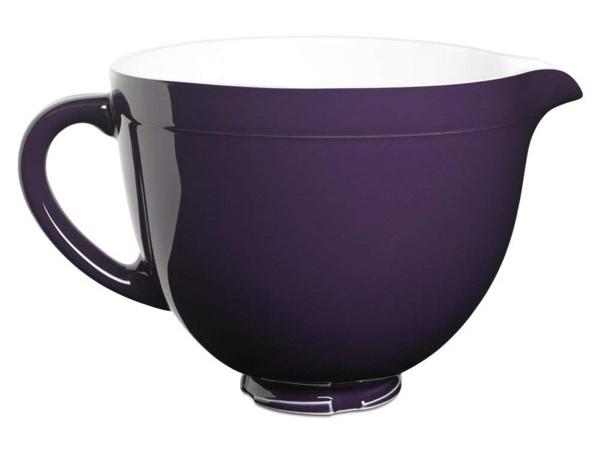KitchenAid キッチンエイド チルトヘッド式スタンドミキサー用セラミック陶器製ボウル (紫) KSMCB5RP (適合機種:4.5QT&5QTチルトヘッド・タイプ)