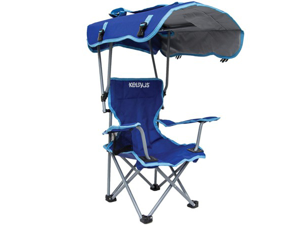Kelsyus ケルシウス 子供用キャノピー・チェア (青) 80316アウトドア日よけ付き折りたたみ椅子