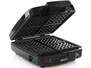 【2年保証】 Krups クラプス 角4型ワッフルメーカー 脱着式プレート・モデル