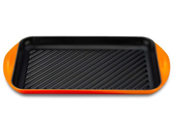 Le Creuset ル・クルーゼ  ダブル・バーナー・グリル 40×23cm  (オレンジ)  ルクルーゼ