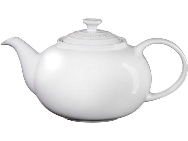 日本未発売 Le Creuset 絶品 ル クルーゼ ルクルーゼ 陶器製急須 ホワイト 割引 1.3リットル ティーポット