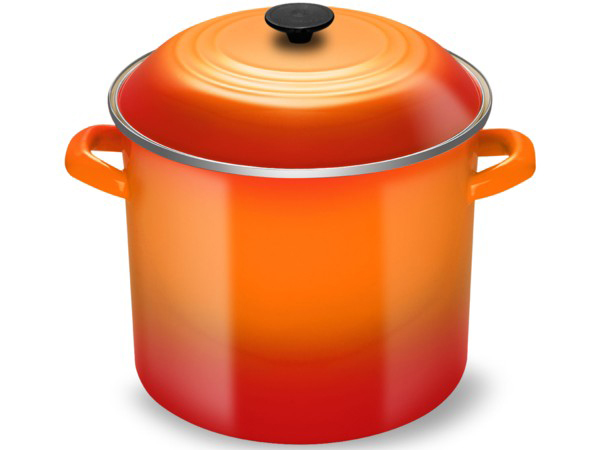 Le Creuset ル・クルーゼ  大型ストックポット (オレンジ) 16QTルクルーゼ パスタを茹でたり用途色々♪ 15リットルサイズです!