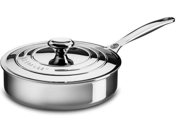 Le Creuset ル・クルーゼ  24cmソテーパン 浅型片手鍋 (ステンレススチール) 3QT ルクルーゼ