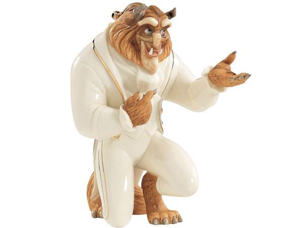 Lenox レノックス ディズニー・フィギュア 美女と野獣の王子 My Hand My Heart Figurine 24Kアクセント白磁フィギュア