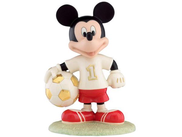 Lenox レノックス ディズニー・フィギュア ミッキーのサッカー選手 Soccer Star Mickey Mouse 24Kアクセント白磁フィギュア