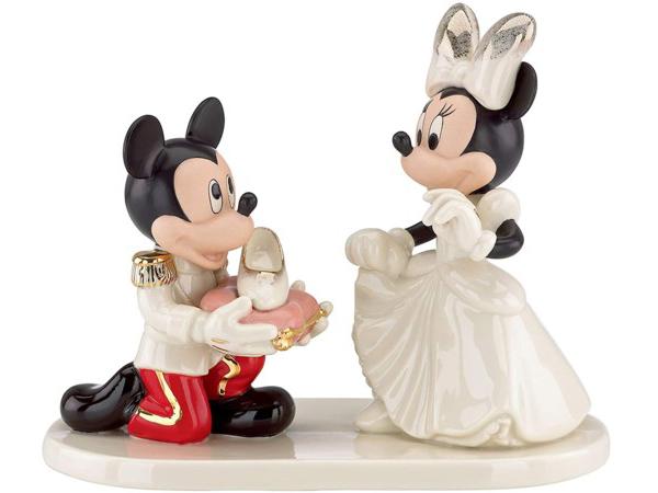 Lenox レノックス ディズニー・フィギュア ミニーのシンデレラ姫 Minnie's Prince Charming 24Kアクセント白磁フィギュア おすすめです♪