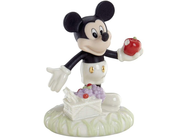 Lenox レノックス ディズニー・フィギュア ミッキーとピクニック A Picnic with Mickey 24Kアクセント白磁フィギュア