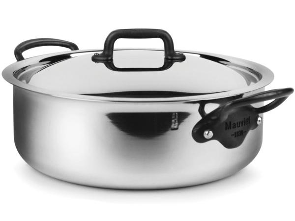 Mauviel ムヴィエール 5 Ply 蓋付きロンドー 29cm浅型両手鍋 5.5リットル M'cook M'cook ムヴィエール 5.5リットル Proシリーズ ステンレス・スチール (鉄色仕上ハンドル), BLABE:c9993405 --- sunward.msk.ru