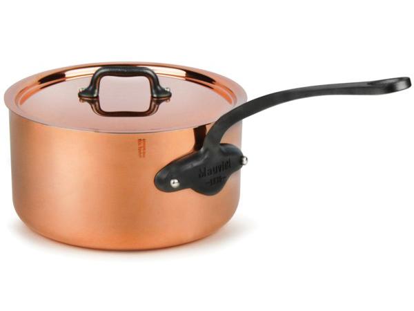 Mauviel ムヴィエール Copper 21cmソースパン 3.5リットル片手鍋 M'heritageシリーズ カッパー(コッパー) M'250c(キャスト・ステンレス鉄色仕上ハンドル)