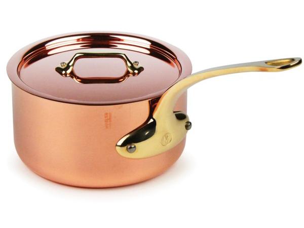 Mauviel ムヴィエール Copper 17cmソースパン 1.8リットル片手鍋 M'heritageシリーズ カッパー(コッパー) M'250b(ブロンズ・ハンドル)