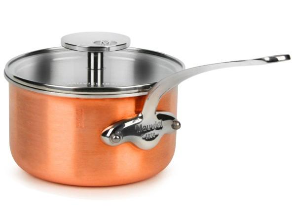 Mauviel ムヴィエール Copper 14cmソースパン 1.1リットル片手鍋 M'3s Tri-Ply Copperシリーズ カッパー(コッパー)