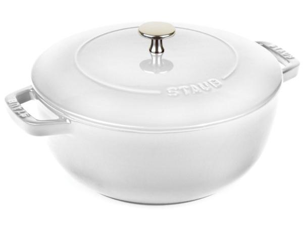 絶版カラー! Staub ストウブ Wa-NABE LLサイズ 24cmエッセンシャル・オーブン (ホワイト) La cocotte de WA-NABE 3.75QT おすすめです♪