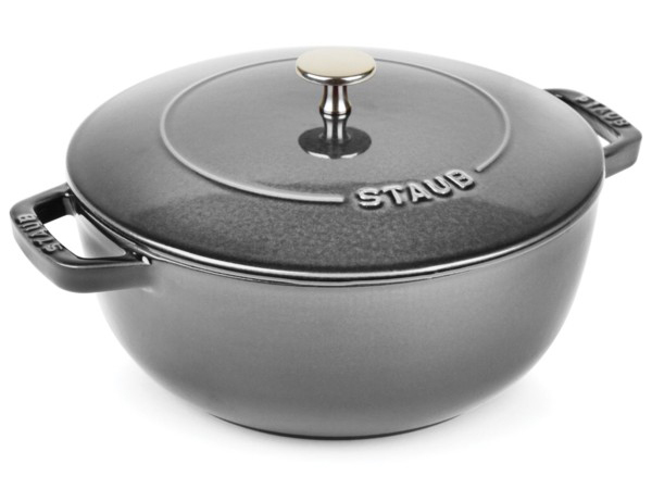 Staub ストウブ Wa-NABE LLサイズ 24cmエッセンシャル・オーブン (グレー) La cocotte de WA-NABE 3.75QT おすすめです♪