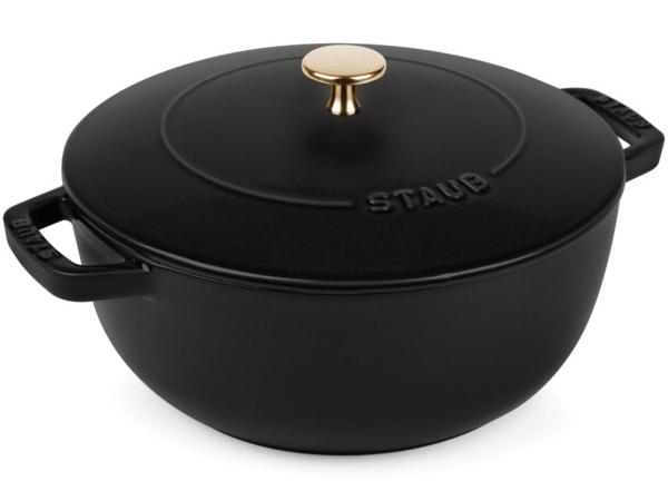 Staub ストウブ Wa-NABE LLサイズ 24cmエッセンシャル・オーブン (マットブラック) La cocotte de WA-NABE 3.75QT おすすめです♪