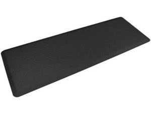 WellnessMats ウェルネス・マット Moire 抗疲労キッチンマット(ブラック) 約180×60cmMotif Collection シリーズ