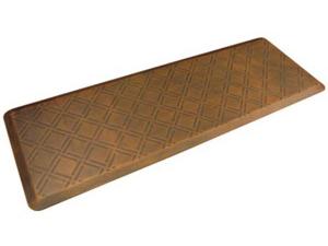 WellnessMats ウェルネス・マット Moire 抗疲労キッチンマット(ライトブラウン) 約180×60cmMotif Collection シリーズ
