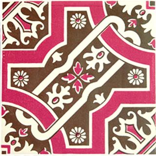 【送料無料】【decolfa/デコルファ】【まとめ買いがお得】 貼ってはがせるデコレーションタイル ピンク M4000 【10枚セット】