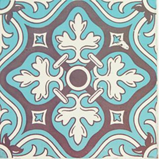 【送料無料】【decolfa/デコルファ】【まとめ買いがお得】 貼ってはがせるデコレーションタイル ブルー M4002 【10枚セット】