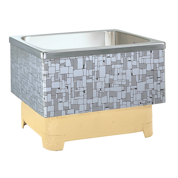 【ナスラック】ステンレス浴槽 石垣 2方半エプロン・半埋込式 280L 右排水