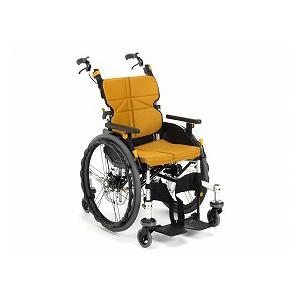 松永製作所 自走型6輪車いす ネクストコア くるり NEXT-71B(中床)【車椅子 車いす 自走用 折りたたみ アルミ 6輪】