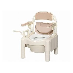 アロン化成 FX-CPはねあげ 534-500【ポータブルトイレ ポータブル 排泄 消臭 簡易 介護 福祉 介護用品】