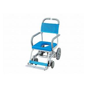 ウチエ シャワーラク(O型シート) SWR-100【介護 お風呂 シャワーキャリー 入浴 車イス 椅子】