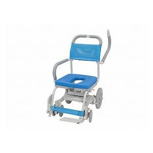 ウチエ くるくるチェアD(O型シート) KRU-172【介護 お風呂 シャワーキャリー 入浴 車イス 椅子】