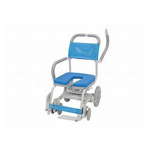 ウチエ くるくるチェアD(U型シート) KRU-174【介護 お風呂 シャワーキャリー 入浴 車イス 椅子】