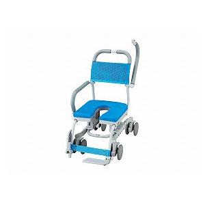 ウチエ シャワーラク4輪自在 SWR-130 O型穴有りシート【介護 お風呂 シャワーキャリー 入浴 車イス 椅子】