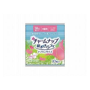 ユニ・チャーム チャームナップ吸水さらフィ ナプキンサイズ中量用1ケース(10枚×36袋)