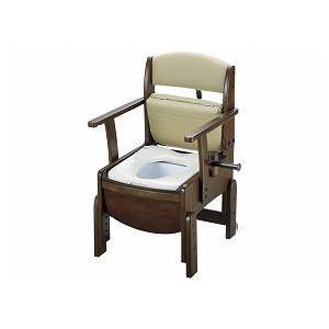 リッチェル 木製トイレ きらくコンパクト 普通便座 18510