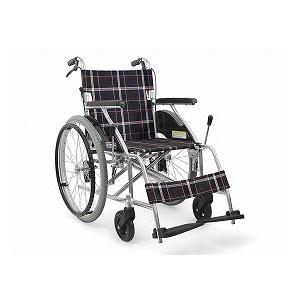 カワムラサイクル ハイポリマータイヤ仕様標準(中床) KV22-40SB(自走型車いす)【車椅子 車いす 自走用 軽量 折りたたみ アルミ】