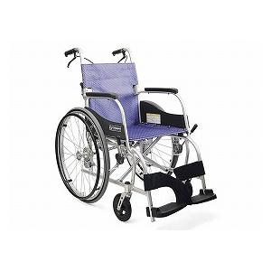 カワムラサイクル 自走型車いす ふわりす(エアタイヤ軽量仕様) KF22-40SB【車椅子 車いす 自走用 軽量 折りたたみ アルミ】